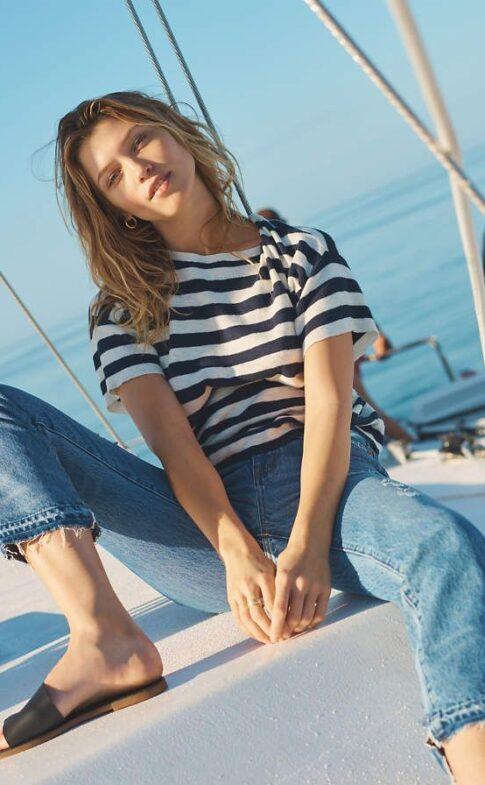 madewell.com Boxy-Sweater-Tee-in-Kelley-Stripe0360eb6f671c8c567fc448c90e5e1ab3